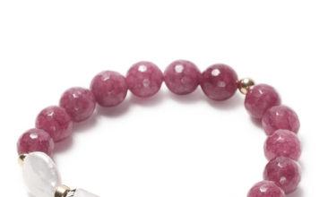 Be Surya Lavish Bracelet with Agate Groseille from Beblue, $95
