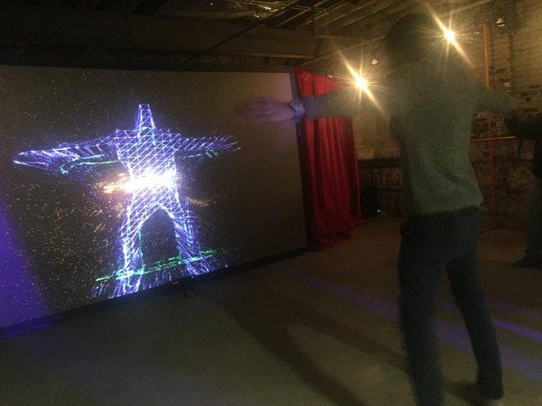 Magic Dance Mirror by Kyle Ruddick (USA) at Toronto Light Festival