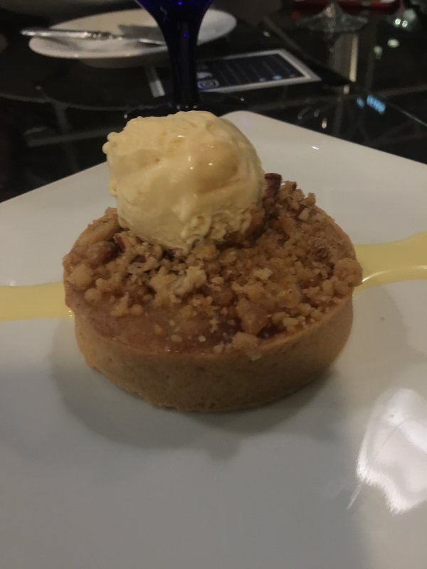 Apple Pecan Tart on Winterlicious menu at Azure Restaurant at InterContinental Toronto Centre