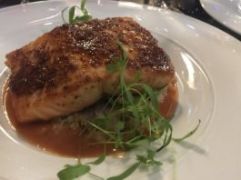 Grain Mustard Coated Salmon at Azure Restaurant for Winterlicious Menu