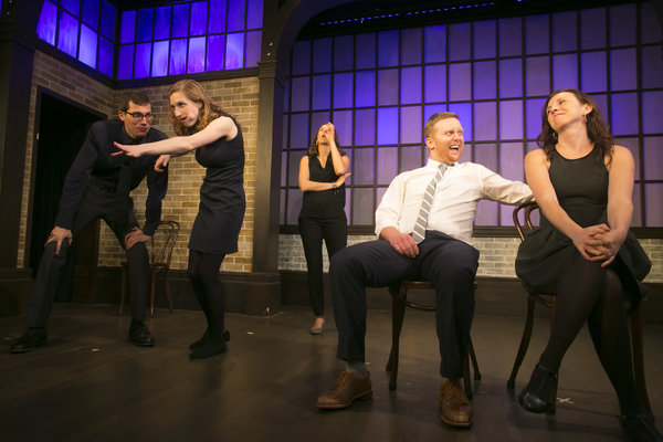 Hooking Up With The Second City, The Second City Blue Company Traveling Group © Todd Rosenberg 2015 is one of the most popular things to do Valentine's Day in Toronto