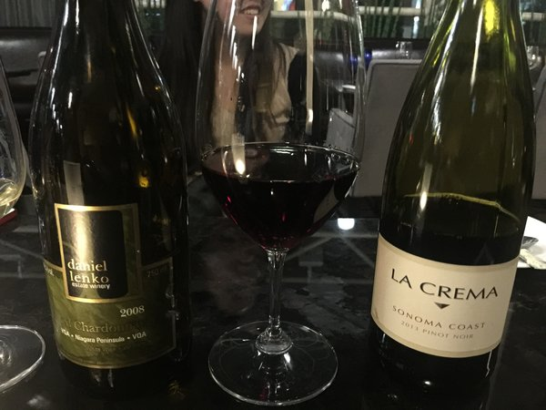Wines served at Winterlicious media event at Azure Restaurant