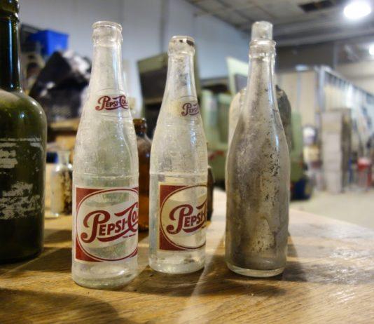 Old bottles found by Chris Cavan of City Wide Group Basement Waterproofing