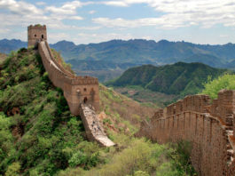Shot of the Great Wall of China an example of engineering in Dream Big at Ontario Science Centre is one of the most popular things to do March Break in Toronto, photo courtesy Ontario Science Centre