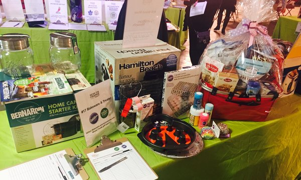 Silent Auction items at Recipe for Change 2017