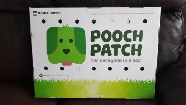 Pooch Patch is an indoor patch of grass for your dog.