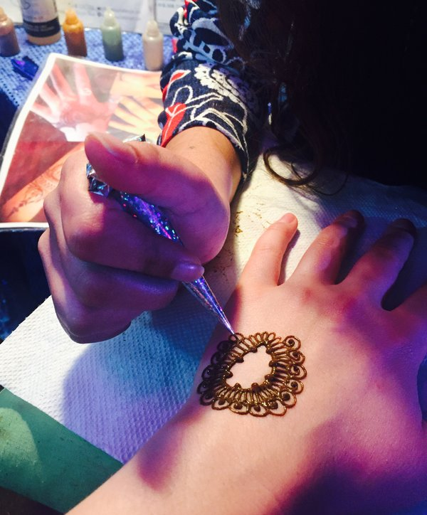 Henna by Dimple Shah at Youth Without Shelter Cover Me Urban event