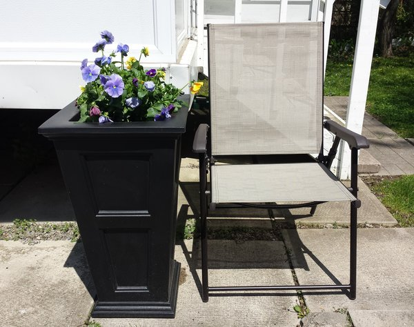 Fairfield Tall Planter in Black, $114, from Home Depot Canada