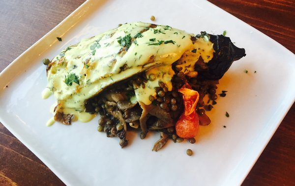 Whole-roasted eggplant at Hungry Amoo on Ossington Avenue