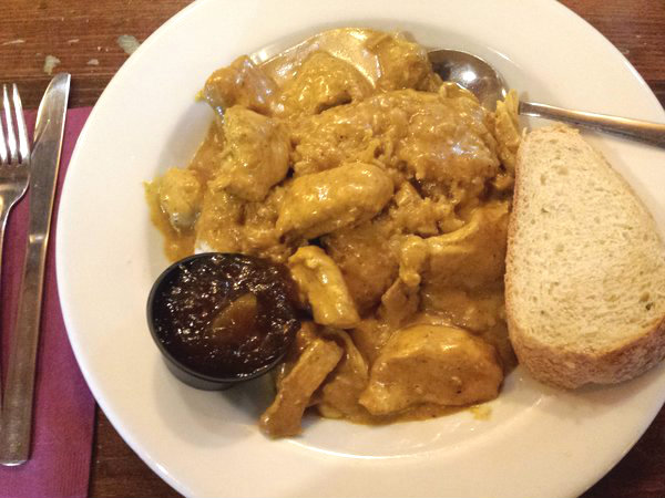 Gold Medal Chicken Curry at The Irish Harp Pub