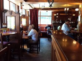 Interior of The Irish Harp Pub in Niagara on the Lake