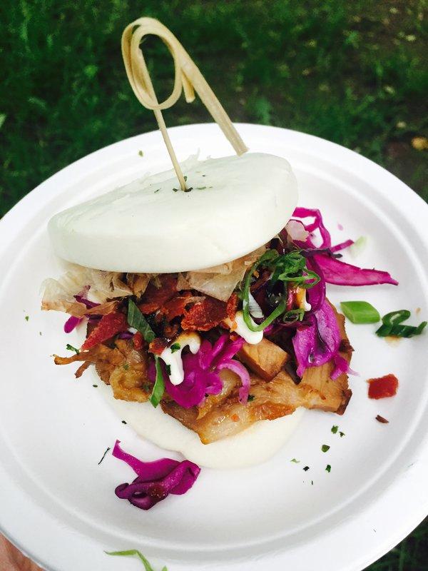 Okonomiyaki Char Siu Bao from Kanpai Snack Bar