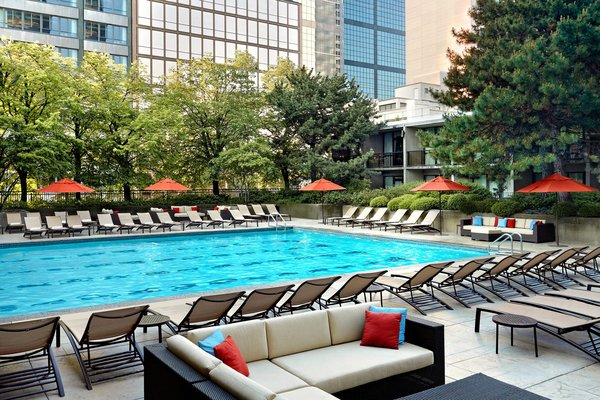 Outdoor swimming pool at Sheraton Centre Toronto Hotel