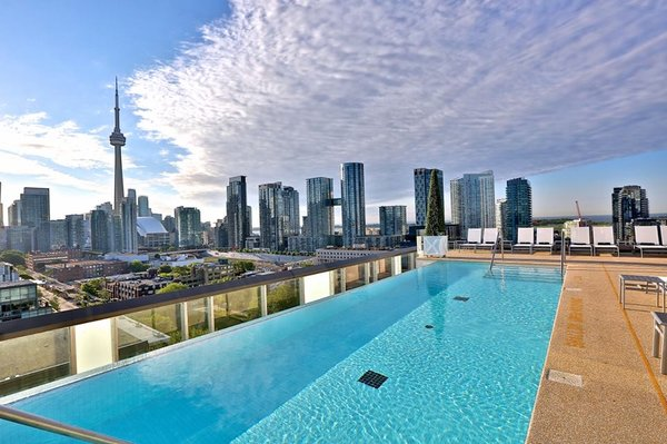 Outdoor swimming pool at Thompson Toronto