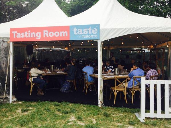 Tasting Room at Taste of Toronto
