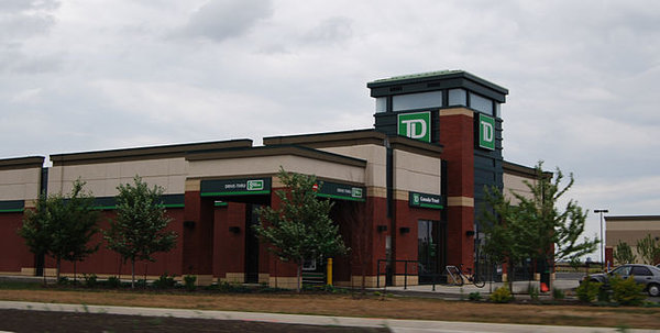 TD Bank. Banks are closed Family Day in Toronto 2018, photo by Myke2020 - Own work, Public Domain, https://commons.wikimedia.org/w/index.php?curid=7260951