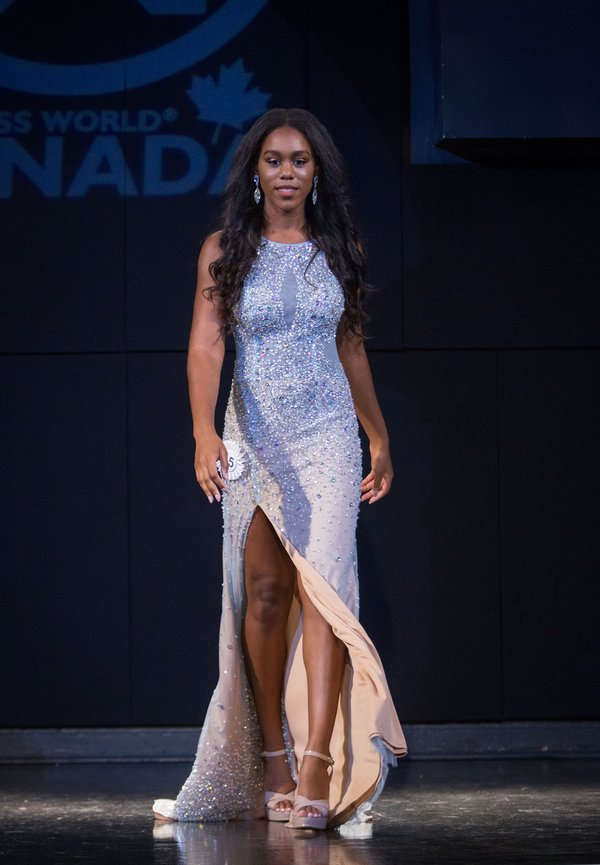 Sheneice White at Miss World Canada 2017