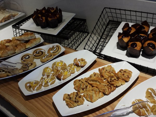 Breakfast pastries at Ramada Resort Jackson's Point