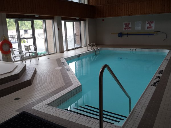Indoor pool at the Ramada Resort Jackson's Point