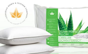 Medium Down Perfect Pillow from Canadian Down & Feather Company