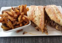 Simcoe Cheese Steak Sandwich at Lake Simcoe Arms