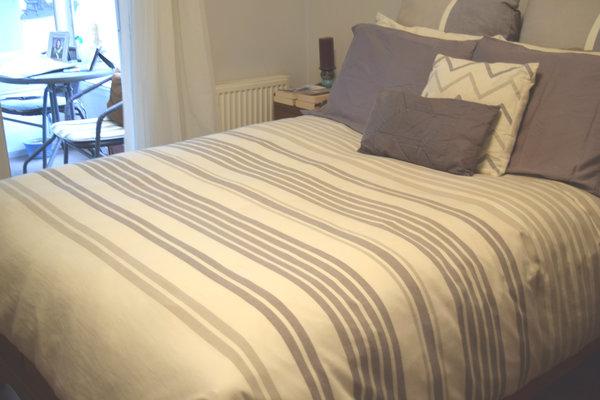 The Gel Microfiber Down Alternative Duvet on my bed.