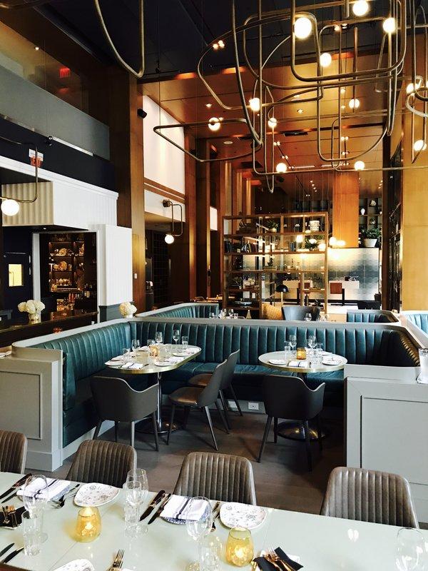 Main entrance of Victor Restaurant at Le Germain Hotel, Toronto
