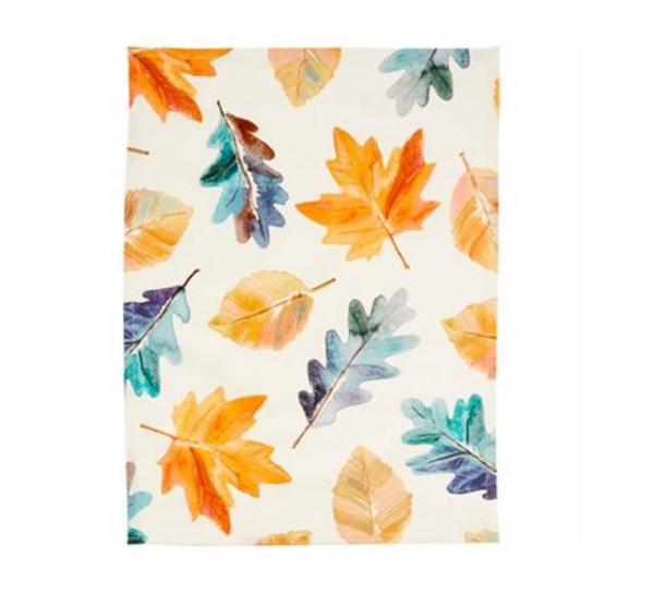 Painted Leaves Tea Towel from Chapters Indigo