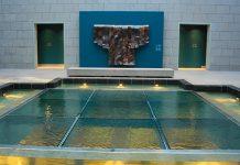 Michael Belmore's Lost Bridal Veil in the atrium.