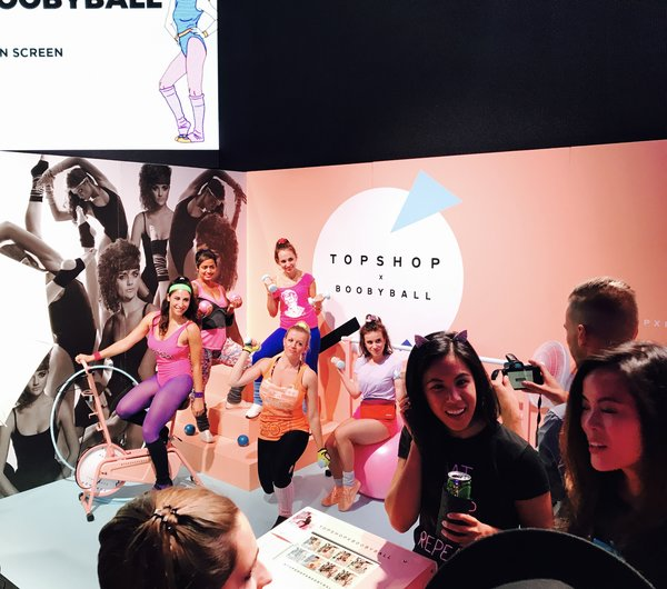 Topshop Corner at Boobyball Toronto 2017