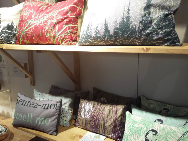Balsam Fir Pillows from Balsamea at the One of a Kind Christmas Show 2017
