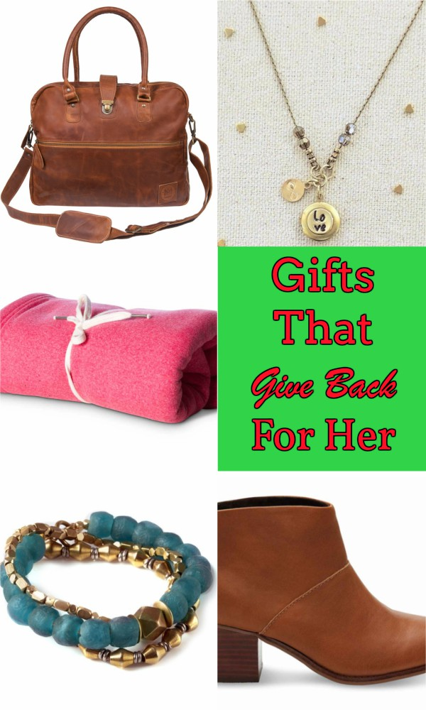 Gifts That Give Back for Her Pinterest pin