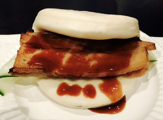Pork Belly Bun from Kinton Ramen at the Gourmet Food & Wine Expo