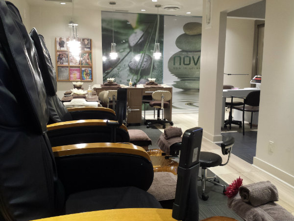 Manicure and Pedicure Room at Novo Spa Yorkville
