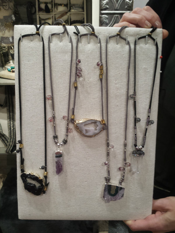 Necklaces from Julie Bessette at the One of a Kind Christmas Show 2017