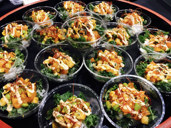 Salmon Poke Bowl from EDO at the Gourmet Food & Wine Expo in Toronto