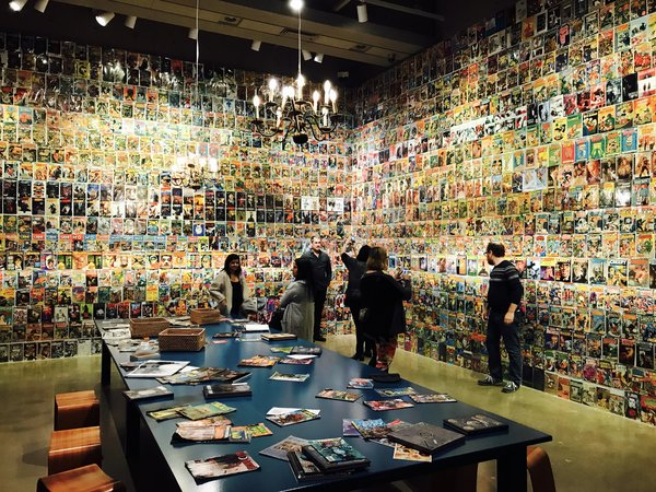 Comic Room at Guillermo del Toro exhibit at Art Gallery of Ontario