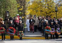 Remembrance Day Ceremonies at University of Toronto