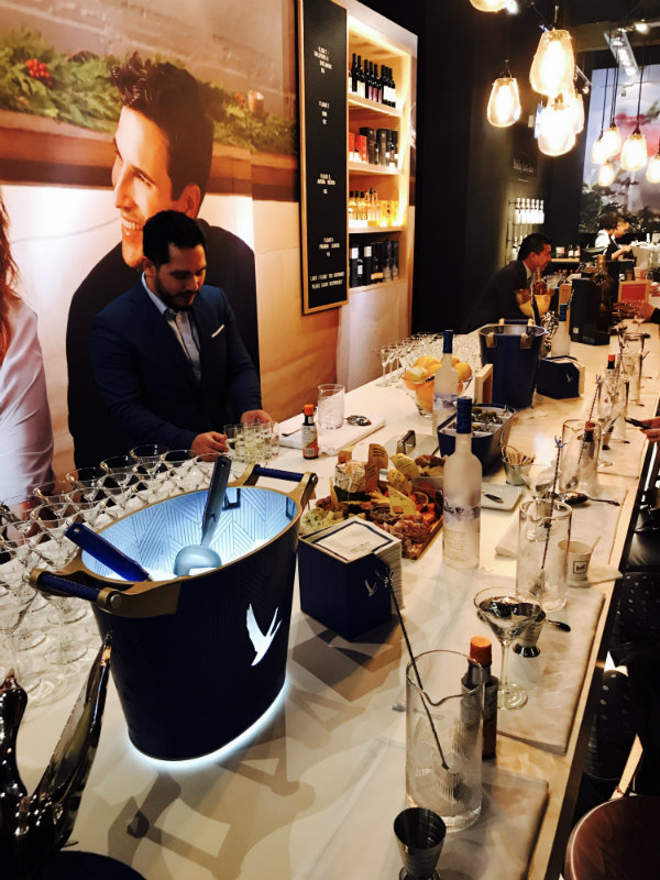 Chris leading Grey Goose Station at LCBO Holiday Pop Up in Toronto