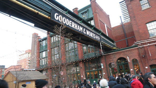 Gooderham and Worts Sign at the Toronto Christmas Market.