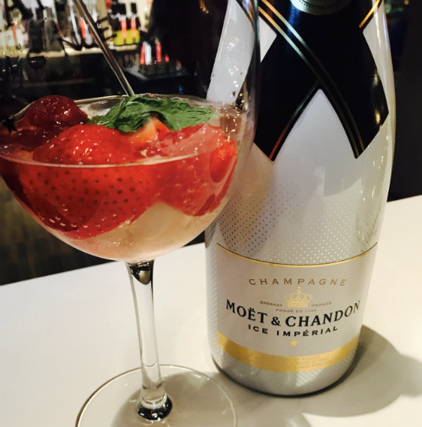 Moet Cocktail at LCBO Holiday Pop Up in Toronto