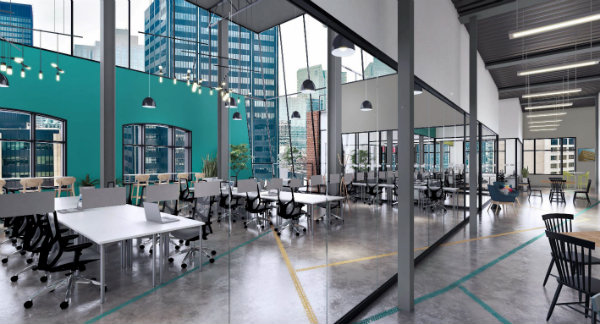 Reserved Co-working Area at Spaces Queen West