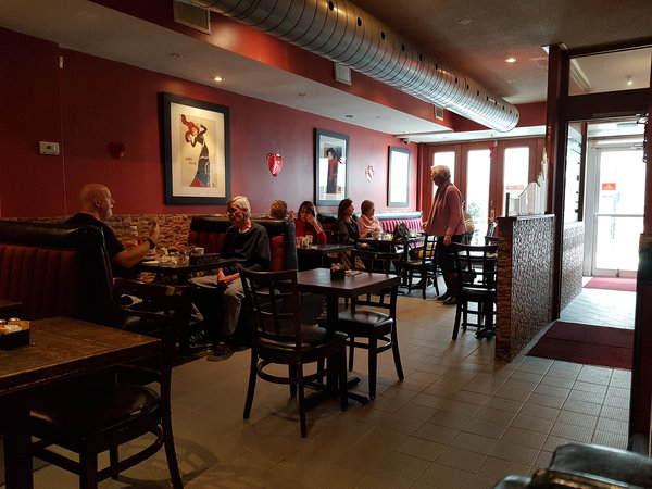 Interior of ViVetha Bistro on Queen Street East in the Beaches