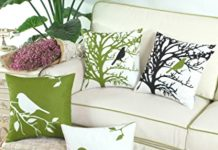 Bird Cushions from Amazon Canada bring a breath of spring indoors.