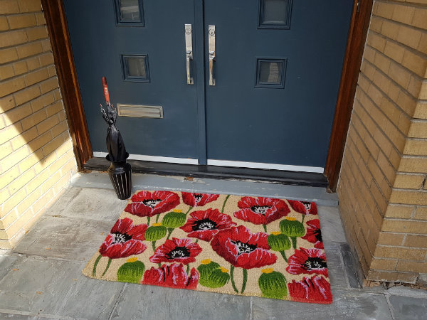 Extra Large All Over Poppy Doormat from Abbott Collection