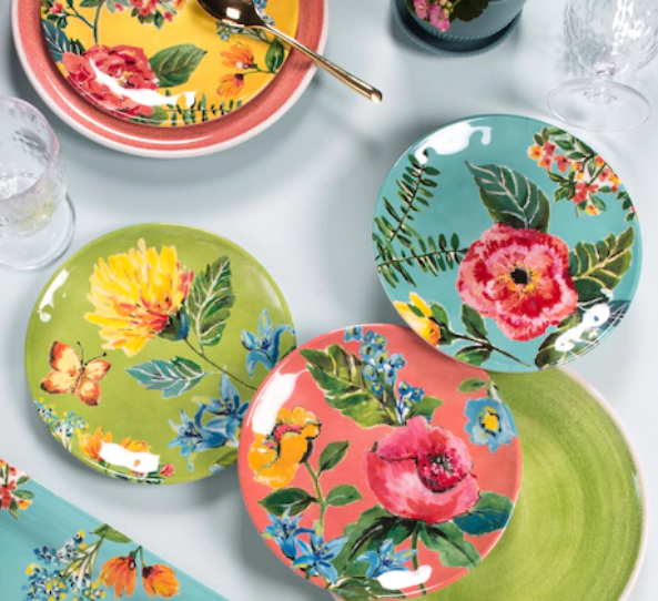 Garden Floral Serveware from Linen Chest