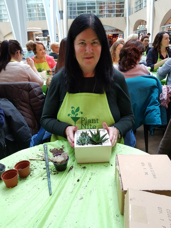 Me at Plant Nite at Marche Restaurant in Toronto.