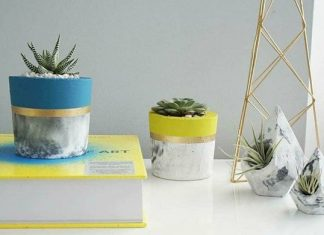 Concrete planters from Double L Decor at the One of a Kind Show in Toronto