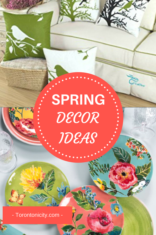 Spring Decor Items pinterest pin.