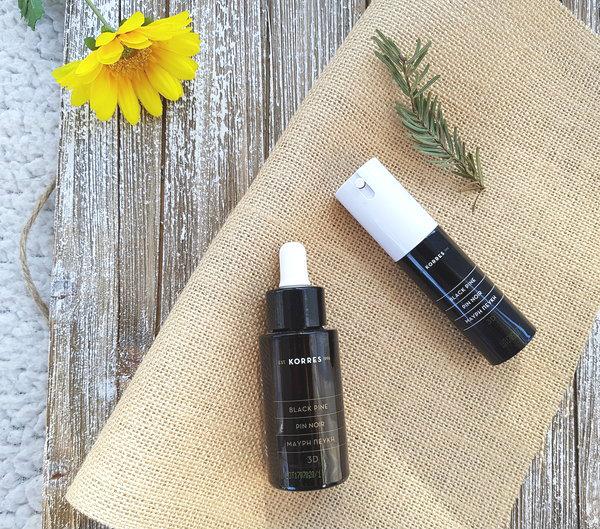 Korres Black Pine 3D Sculpting & Firming Sleeping Oil and Black Pine Antiwrinkle, Firming & Lifting Eye Cream